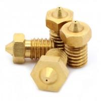 Prusa i3 3D -tulostimen suutinkärki 1.75mm (E3D M6) takaa häikäisevän tulostustarkkuuden. Suutinkärkiä vaihtamalla, pystyt säätämään tarkkuutta. Sopii yhteen E3D V5 ja V6-suuttimien kanssa. Halkaisijat: 0.2/0.3/0.4/0.5/0.8mm. ✔ Suomalaisten testaama. ✔ TAX FREE! Säästä 24%.  ✔ 30vrk palautusoikeus.