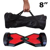 e-Drift hoverboardilla on mukava kulkea ympäriinsä, mutta sen kantaminen kädessä voi olla hieman rasittavaa. Tasapainoskootteri kulkee hyvin mukanasi tällä kantolaukulla.