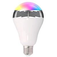 5W kaiuttimella varustettu polttimo sopii tavalliseen E27 kantaan. Kaukosäätimellä ja kännykällä ohjailtava lamppu vaihtaa väriä ja toistaa musiikkia.