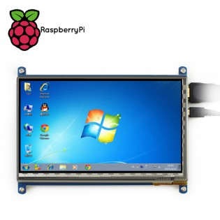 """7"""" 1024x600 Kosketusnäyttö Raspberry Pi tietokoneelle"""