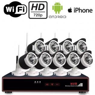 9x langaton kamera ja verkkovideotallennin