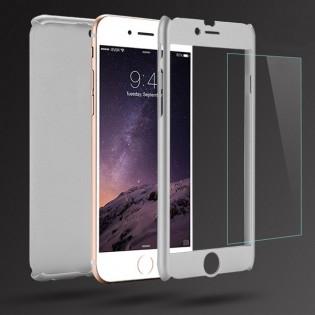 360° suojakuori iPhone 7 / 7 Plus - Hopea, iPhone 7