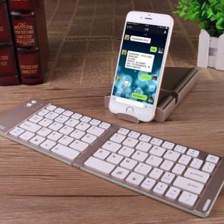 Taittuva bluetooth näppäimistö puhelimelle tai tabletille - Kulta