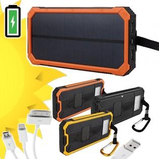 Varavirtalähde aurinkokennolla 20000mAh - Oranssi