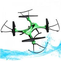 JJRCH31 on vedenkestävä drone puolen metrin syvyyteen saakka. Nelikopteri on todella helppo lentää ja sillä voi nousta veden pinnasta tarpeen vaatiessa.