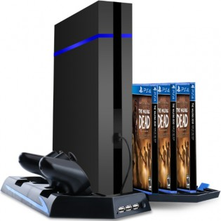 All-in-one -teline PS4-konsolille, ohjaimille & peleille