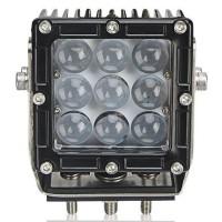 Ammattikäyttöön tarkoitettu jykevä LED-lisäkaukovalo. 45 watin teho yhdistettynä 4D-linssiin ja kapeaan valokeilaan kirkastaa tien.