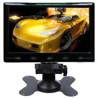 """7"""" ultraslim näyttö joka toimii verkkovirralla sekä 12 ja 24v autoissa ja koneissa. Näytössä on niin RCA kuin HDMI sisääntulot moneen tarpeeseen."""