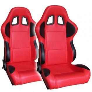 2x EV Sporttipenkit autoon - Punainen