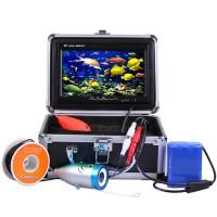 """Kalastuskamera 7"""" LCD-värinäytöllä & kantosalkulla. Katso kalojen käyttäytyminen suoraan mukana kulkevalta näytöltä. Kamerassa on tehokkaat LED-valot!"""