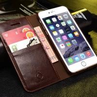 iPhone 7 / 7 Plus flip cover skyddar effektivt mot skråmor och smuts. Kan även användas som ett litet stativ då du kollar på Netflix. Snygg och stilren design!