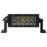 """E-hyväksytty Cree LED-lisävalo antaa 36W teholla 3000 lumenia. 12–24V jännitteellä toimiva 7,5"""" paneeli on IP67-suojattu ja saatavilla leveä- tai kapeakuvioisena."""