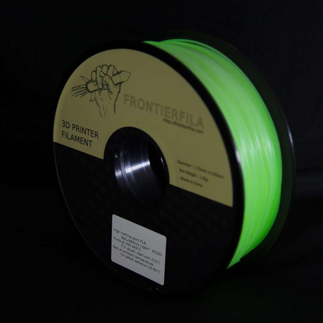 FrontierFila PLA pimeässähohtava 3D-tulostinlanka 1.75mm 1kg