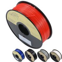 3D ABS 1kg 1.75mm filament är billigare och mer hållbart än PLA, men lite knepigt att skriva ut och mindre miljövänliga. Slutresultated brukar oftast bli bättre med dessa.
