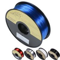 3D filament PETG är kort och gott hårdare och mer kvalitativare material än PLA, samtidigt är det lättare att använda än ABS. Denna produkt rekommenderar vår produktchef starkt för alla 3D fans!