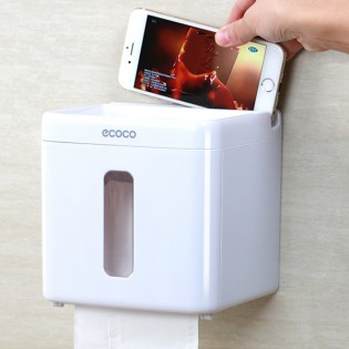 WC-paperiteline älypuhelin paikalla