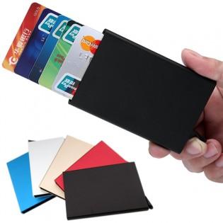 Alumiininen RFID-suojattu korttilompakko 6 kortille - Hopea