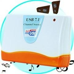 USB-äänikortti 7.1-kanavainen