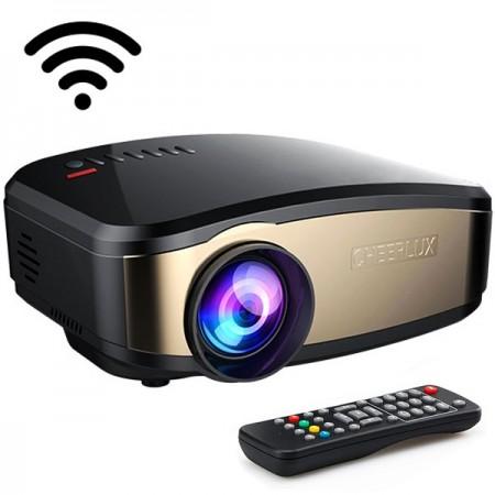 CHEERLUX C6 Mini WiFi LED-projektori 1200 lumen