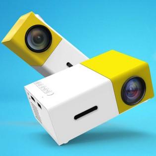 ELiT MiniON LED-projektori 600 lumen - Mustavalkoinen