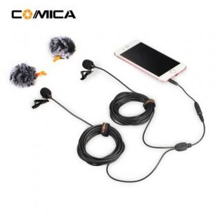 Comica CVM-D02 dual nappimikrofoni puhelimeen tai action-kameraan (2,5-6m) - 4.5m