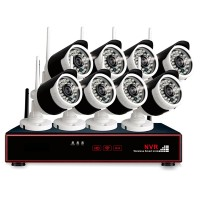 Security system with 8 cameras