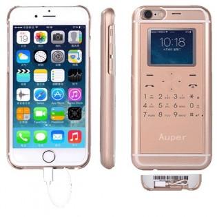 Auper iPhone 6 & 6s 5-in-1 -älysuojakuori - Kulta