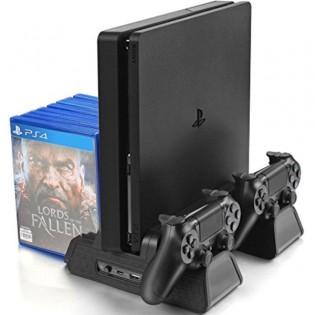 PS4 Slim/Pro tuuletinteline ohjaintelakoilla