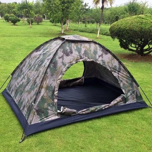 Taktiskt tält för två personer med dubbel ingång e