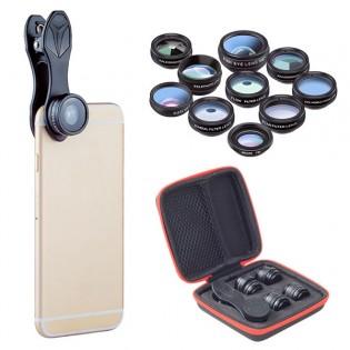 Apexel 10-in-1 linssisetti puhelinkuvaukseen