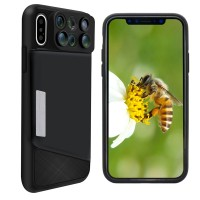 6-in-1 iPhone X Linsset / Skyddsfodral