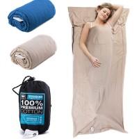 Naturehike puuvillainen makuupussi on hengittävästä ja hyväntuntuisesta puuvillasta valmistettu makuupussi on kätevä varuste matkalle lähdettäessä. Pakattuna menee todella pieneen tilaan!