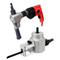 Tämä porakoneeseen kiinnitettävä lisälaite kannattaa hankkia jokaisen askartelijan työkalupakkiin; sama adapteri sisältää peltileikkurin ja pistosahan!