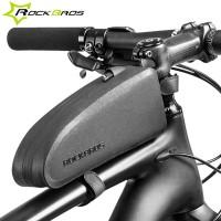 RockBros Tube vesitiivis laukku polkupyörän runkoon. Laukussa on kova vesitiivis runko, joten pienet kolahdukset sekä sade eivät haittaa menoa. Hyvät kiinnitykset mahdollistavat rankemmankin menon, ja laukku pysyy rungossa kiinni.