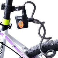 Vaijerilukko hälyttimellä & LED-valolla varustettuna. Unohda Bilteman ja Motonetin lukot, ja hommaa kunnon vaijerilukko pyörään. Vaijerilukko päästää julman 110dB piipityksen, jos sitä yrittää leikata - 12mm paksu punottu teräslukko on todella jykevä!