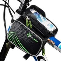 Cykelväska för alla sommarens äventyr i naturen! Nu behöver du inte längre ta en paus när du cyklar ifall du inte får ut mobilen ur fickan eller ifall du vill byta låt på spotify, gör livet lättare med denna smarta uppfinning!