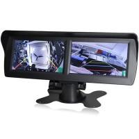 """Är din bil ofta parkerad på ett svårt ställe? Med vår dubbla LCD display ser du två stycken 4,3"""" skärmar samtidigt, som hjälper dig hålla koll på flera vinklar samtidigt! Köp även roterbara kameror från oss!"""