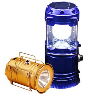 2-in-1 LED-retkilyhty aurinkokennolla - Kulta