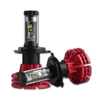 NightEyen varmatoimiset ja kirkkaat 30W Philipsin LED-siruilla varustetut ajovalopolttimot toimivat 12–24V jännitteellä. Varmatoiminen passiivi-ritiläjäähdytys.