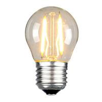 Retrolight Grant on pyöreä ja pieni LED-lamppu, joka mukailee hehkulamppua. Valitse mieleisesi värilämpötila! Halpa ja energiatehokas korvaaja hehkulampulle.