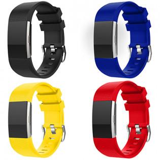 Fitbit Charge 2 silikoniranneke - Keltainen