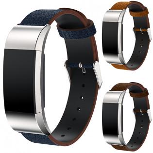 Fitbit Charge 2 nahkaranneke - Ruskea