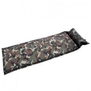 Camo ilmatäytteinen makuualusta tyynyllä - Digitaalinen maastokuvio