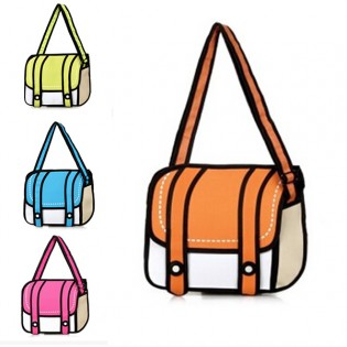 Sarjakuvalaukku - Oranssi
