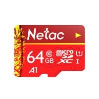 Netac MicroSD muistikortti isolla 64 GB tallennuskapasiteetilla vaikka puhelimeen tai kameraan. 30 päivän palautusoikeus.