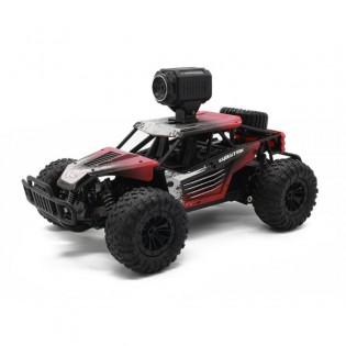 JDRC 1801 EVO 1:18 4WD RC-buggy WiFi-kameralla, harjallinen - Musta