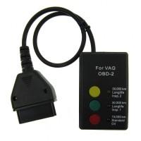 Lättanvänd enhet som återställer störande varningslampor på instrumentbrädan. Enheten fungerar med alla OBD2 kompatibla fordon från VAG-koncernen.