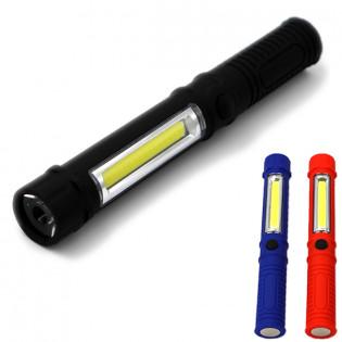 LED taskulamppu magneetilla & COB LEDillä - Musta