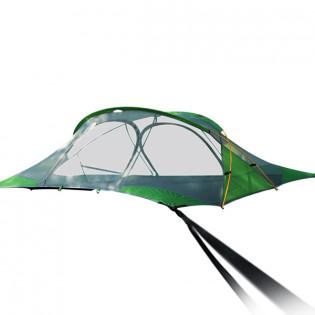 Neliöriippumatto / leijuva teltta sadesuojalla