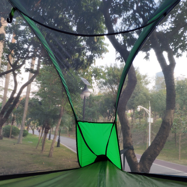 Triangelhängmatta svävande tält med regnskydd e